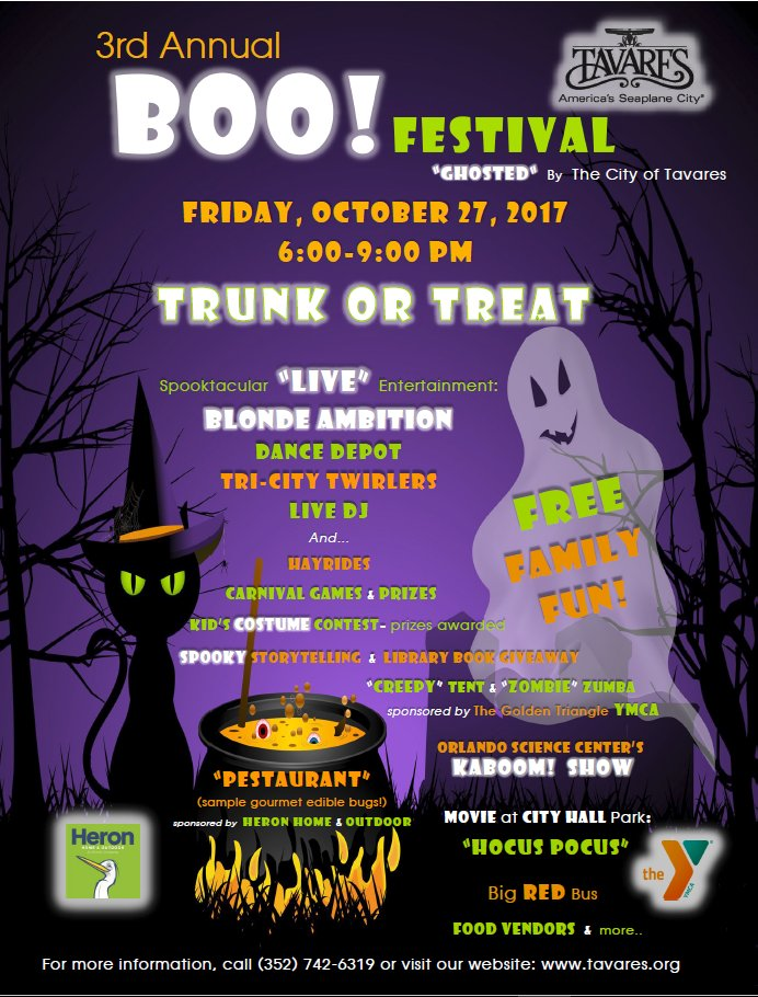 Heron Home Outdoor On Twitter Come Out And See Us Our He At The Tavares Boo Festival This Friday 10 27 From 6 9 Pm It S Not Everyday You A