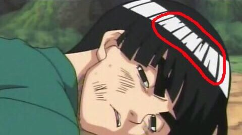 "Y'all ever noticed Rock Lee's hair spells ""NINJA"""