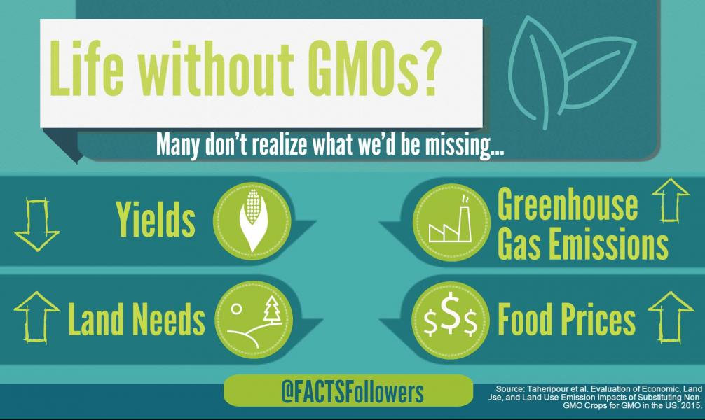 RT @FACTSFollowers: A ban on #GMOs would come at a high environmental cost - https://t.co/RNnXHnzLaD #biotechnology https://t.co/b3JIPkZfXu