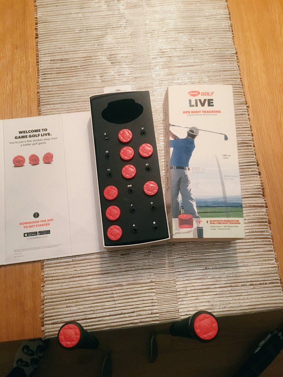Putting new tags in my clubs, ready for a few weeks away @GAMEGOLF
