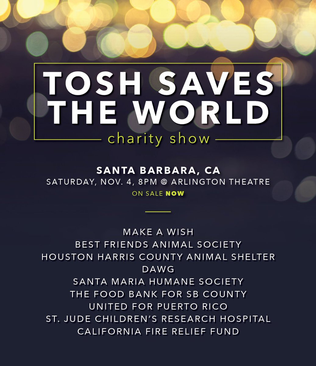 come see me and my friends do stand up in santa barbara to help these great charities!! https://t.co/DaG5pEuqU3 https://t.co/rvA7maNOeB