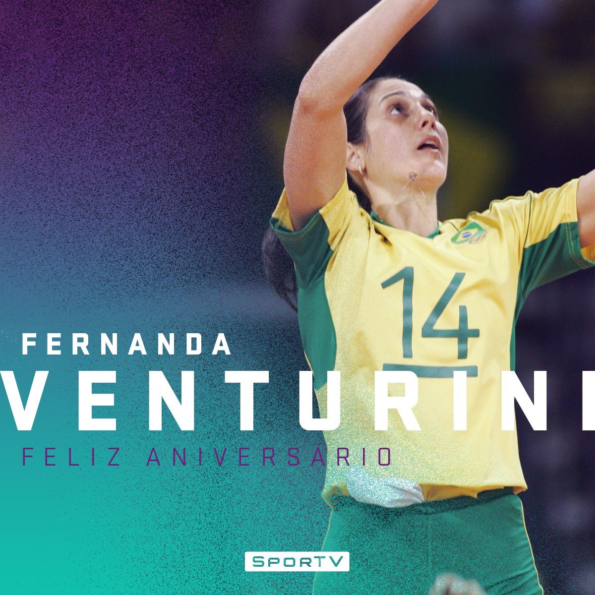 A levantadora que deu tantas alegrias está fazendo aniversário!   Parabéns, Fernanda Venturini! #FernandaVenturini47