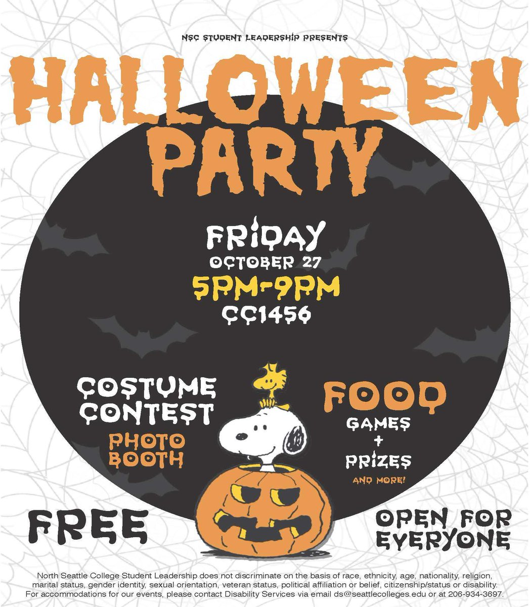 "northseattlecollege on twitter: ""nsc halloween party fri. 10/27, 5-9"
