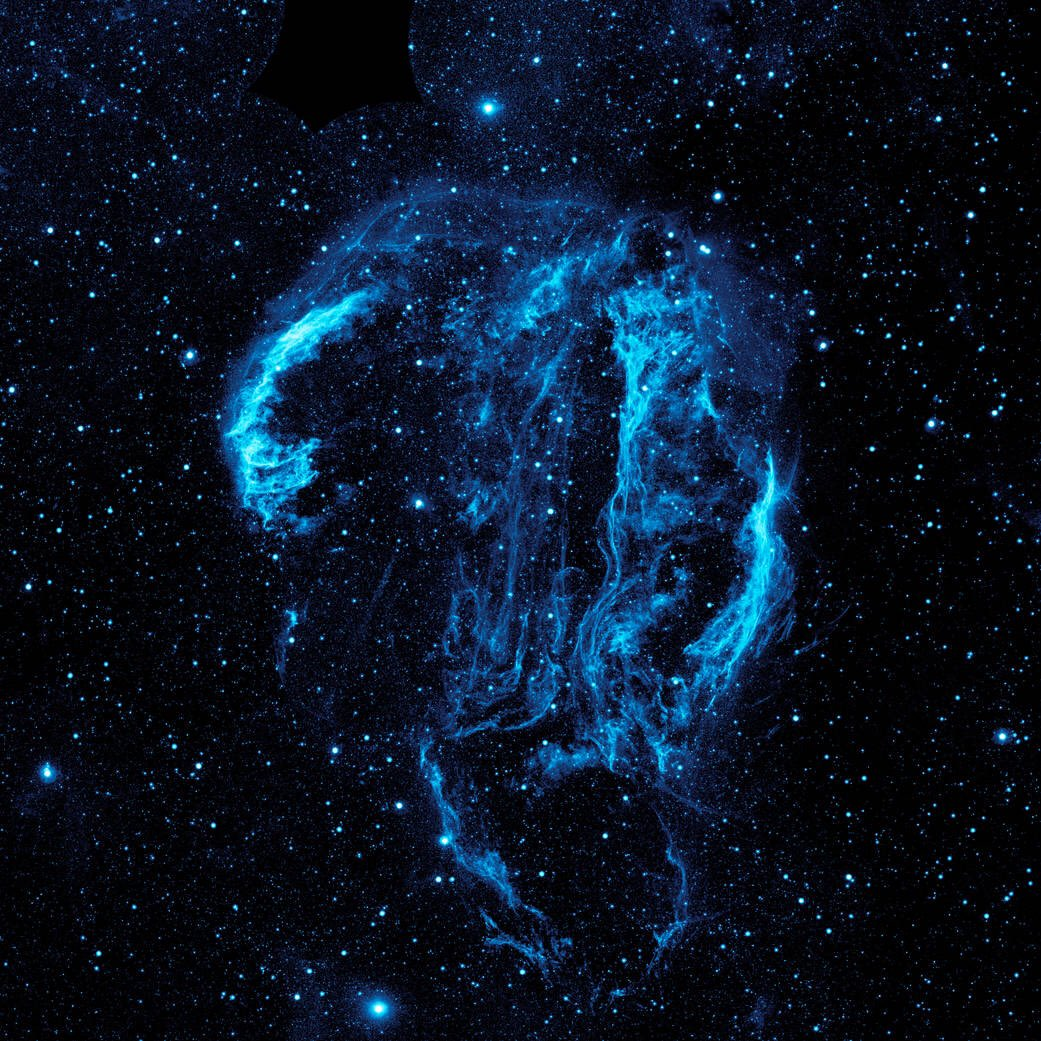 Even in space, we bleed blue, @NASA_Johnson! Here's our GALEX view of the Cygnus Loop Nebula.  https://t.co/c1VwTZNe4f @Dodgers #WorldSeries