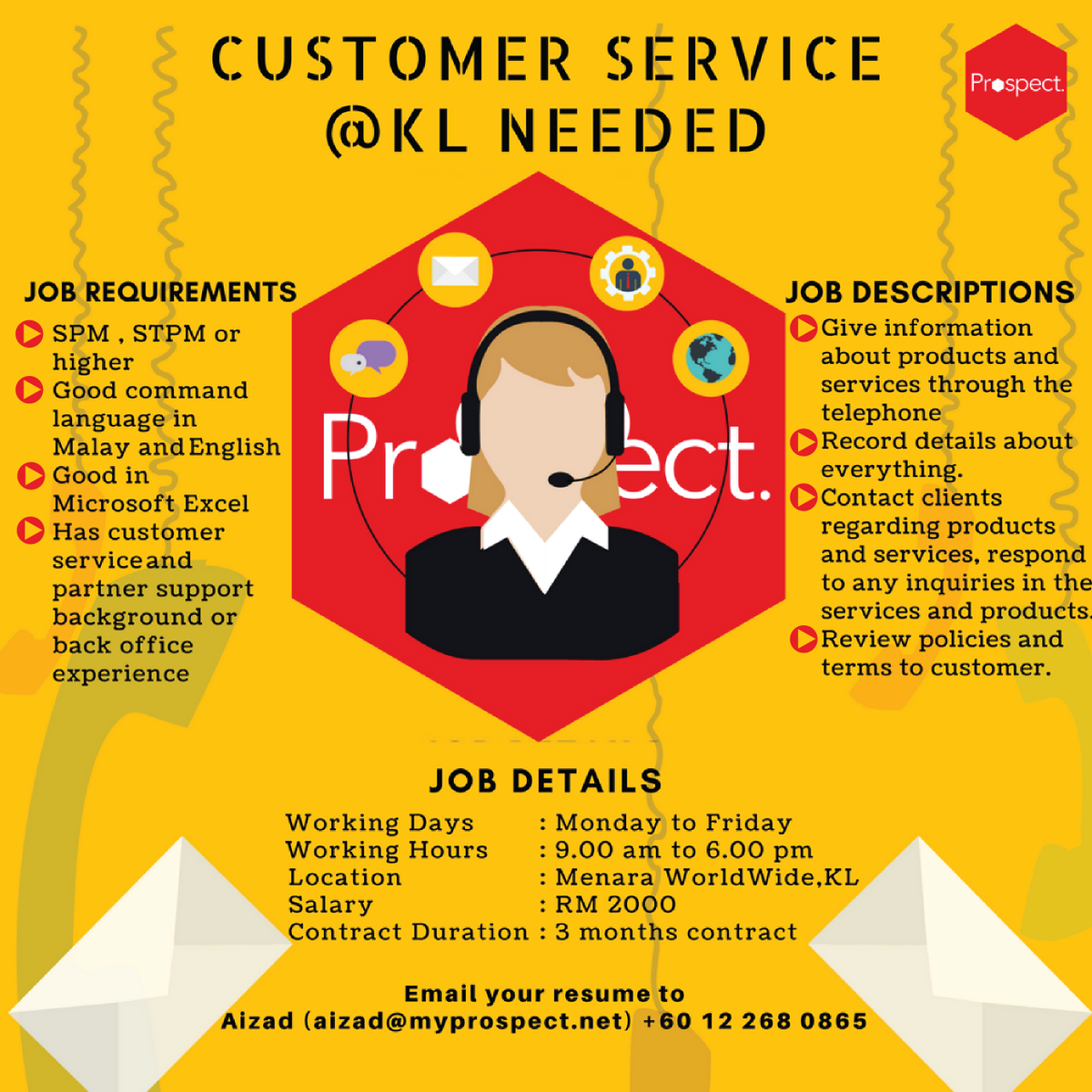 prospect consulting on twitter we are looking for a customer
