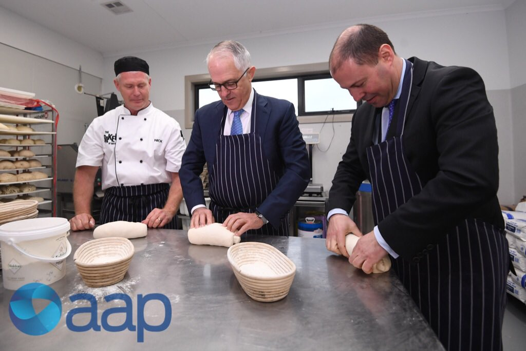 PM Turnbull kneads tomorrow's sourdough...