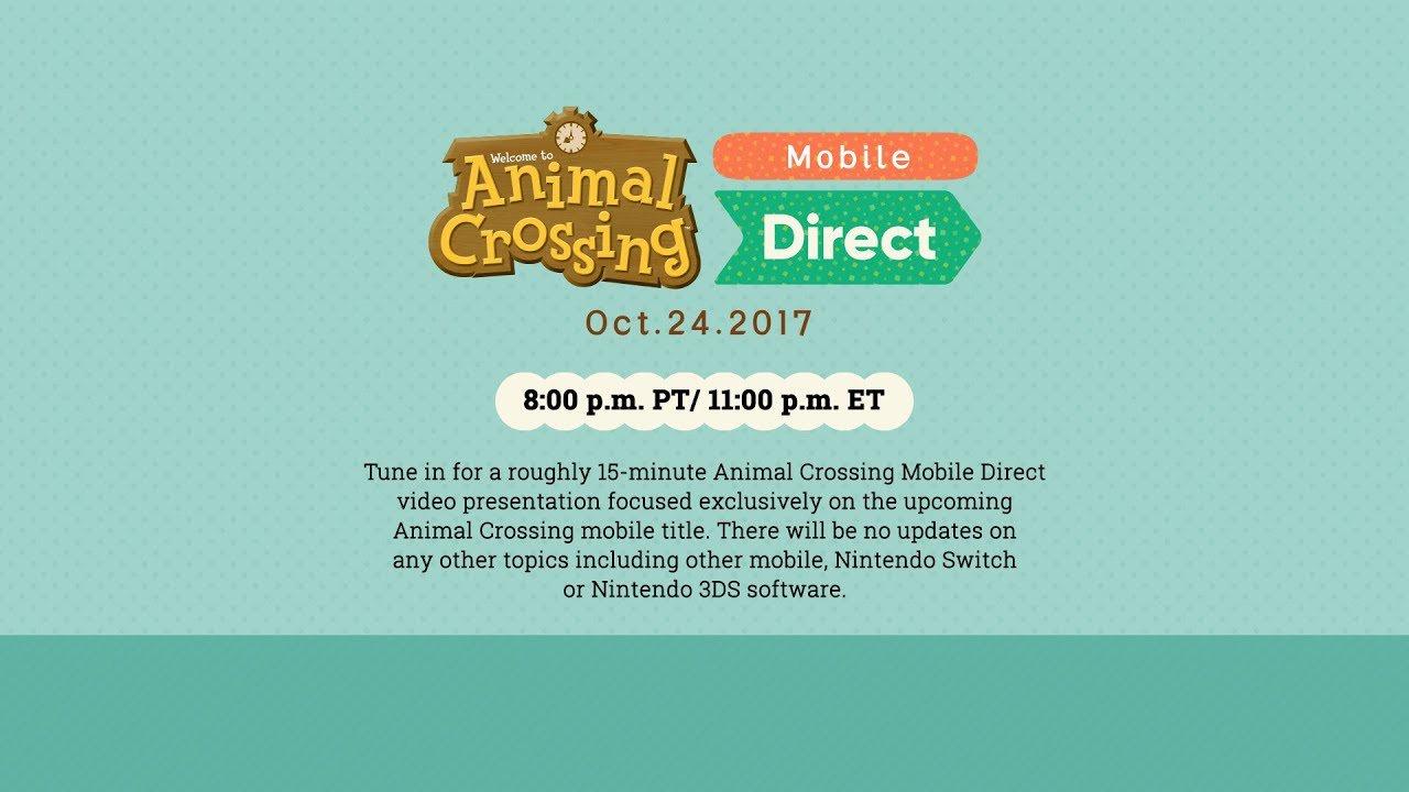 Animal Crossing Mobile, Nintendo Direct, Nintendo, Mobile, iOS, Android