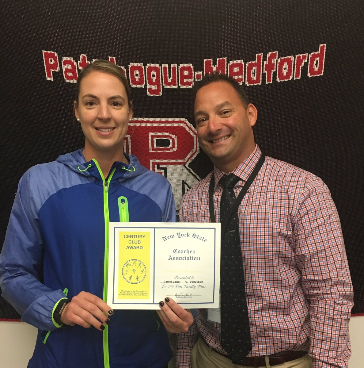 Pat Med Athletics On Twitter 100th Victory Certificate From Nys