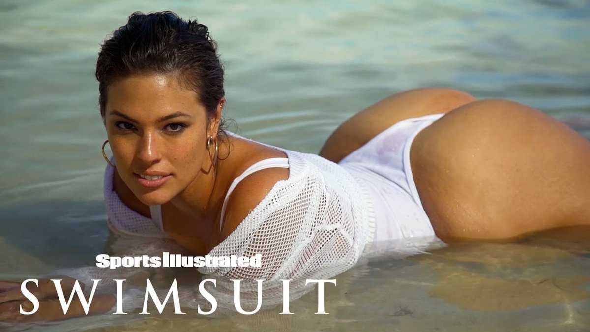 Ashley graham hottest moments: curvy cover model, bare in