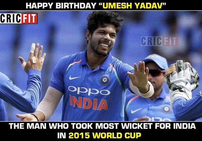 Happy Birthday Umesh Yadav