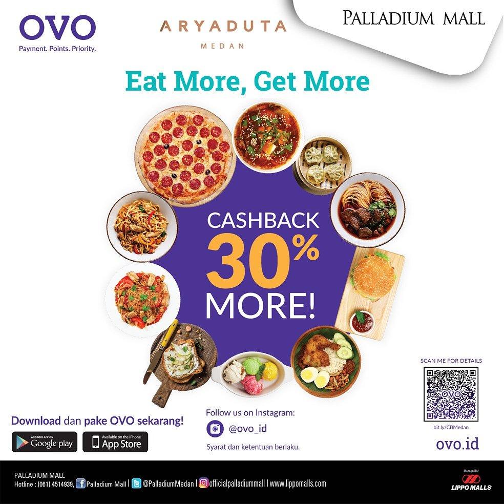Semangat Pagi Friends, Dapetin program OVO Cashback 30% di @AryadutaMedan   Download & pake  OVO sekarang 😄 #palladiummall #lippomalls #OVO https://t.co/yDaZLMFJSx