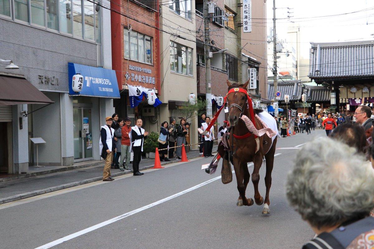 大阪天満宮 流鏑馬神事 馬、逃げた