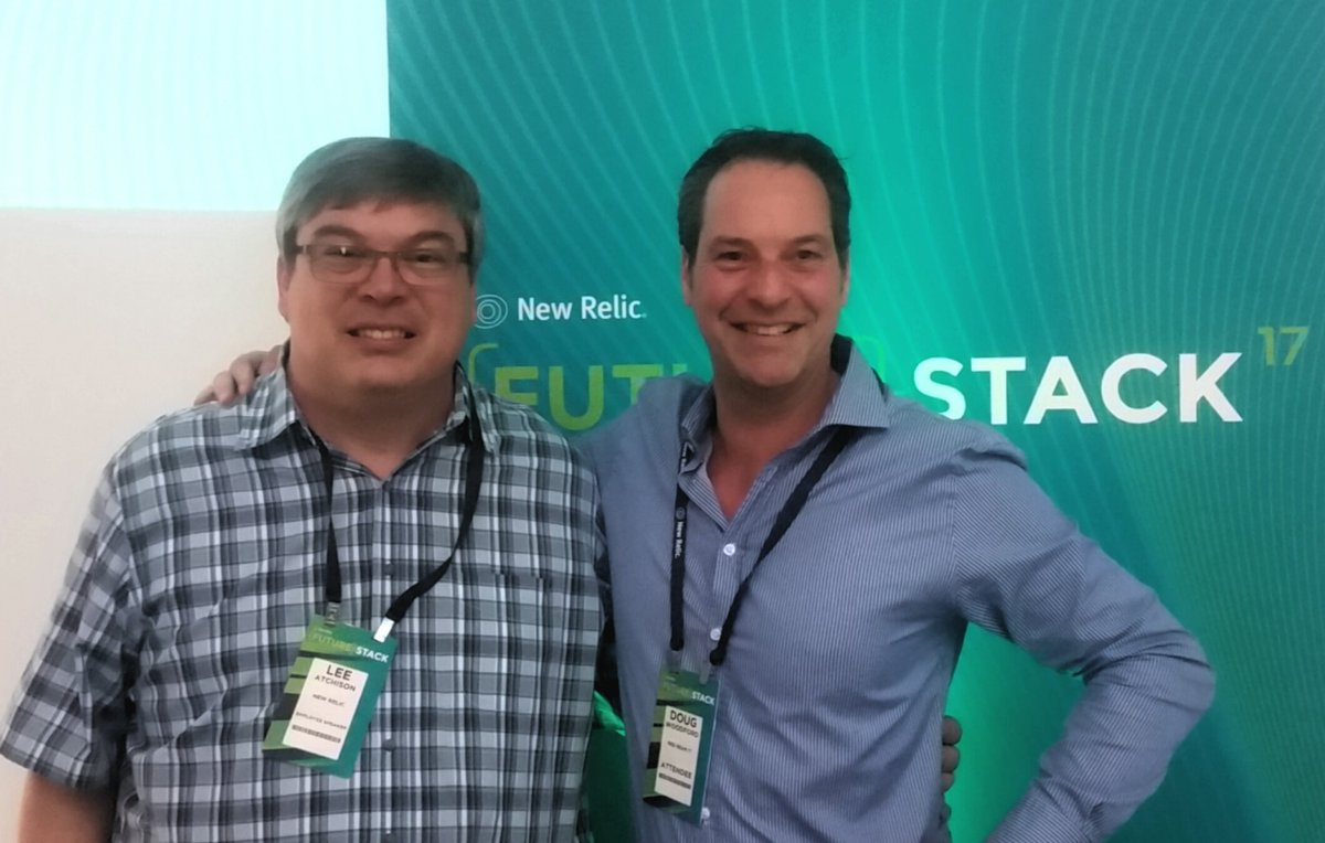Redbear MD- Doug Woodford hangin&#39; with APM software rockstar &amp; author @leeatchison @newrelic excellent #FutureStack conference Sydney <br>http://pic.twitter.com/rfyTNazb1N