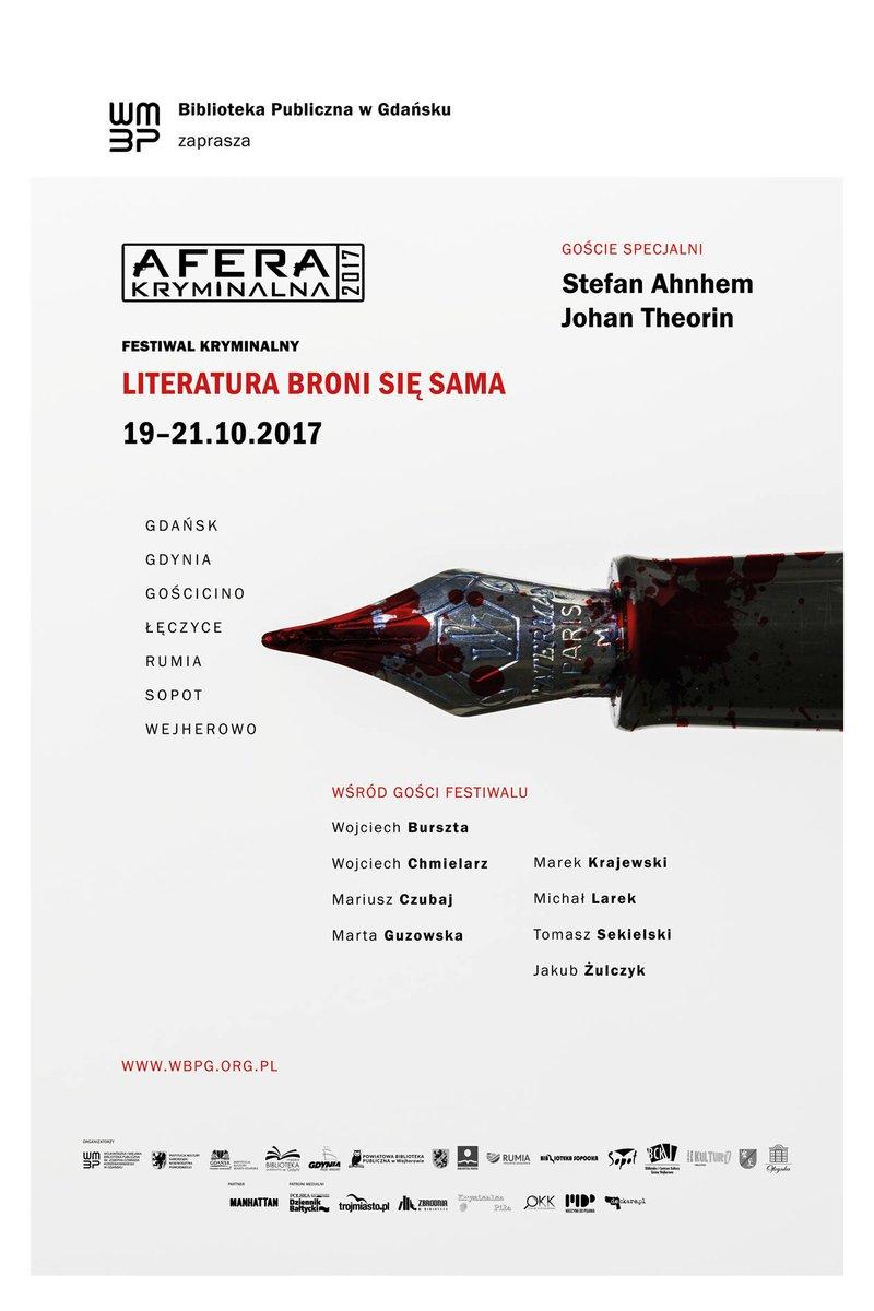 Z kim widzimy się na Aferze Kryminalnej? 🧐 🗓️19-21.10 Program ➡️ http://www.wbpg.org.pl/aktualnosc/afera-kryminalna-2017… #AferaKryminalna #festiwal @WiMBPGdansk #patronat