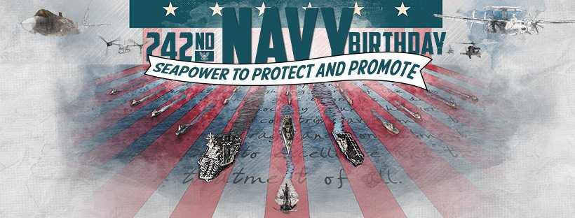 Happy #242NavyBday! 🎂🎈  RT to celebrate...