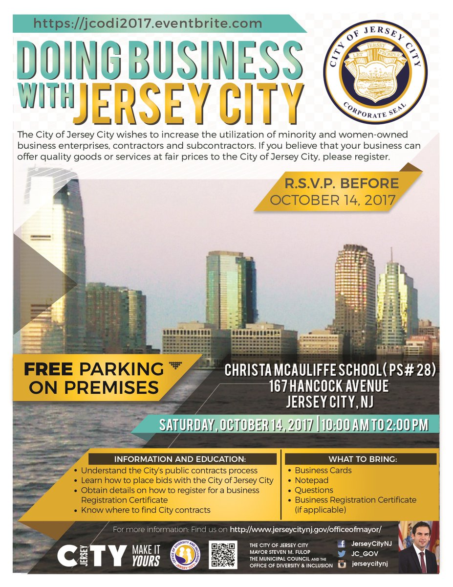 City of jersey city on twitter reminder looking to do business in city of jersey city on twitter reminder looking to do business in jerseycity nows your chance to get started join us sat 1014 10am 2pm at ps 28 reheart Choice Image