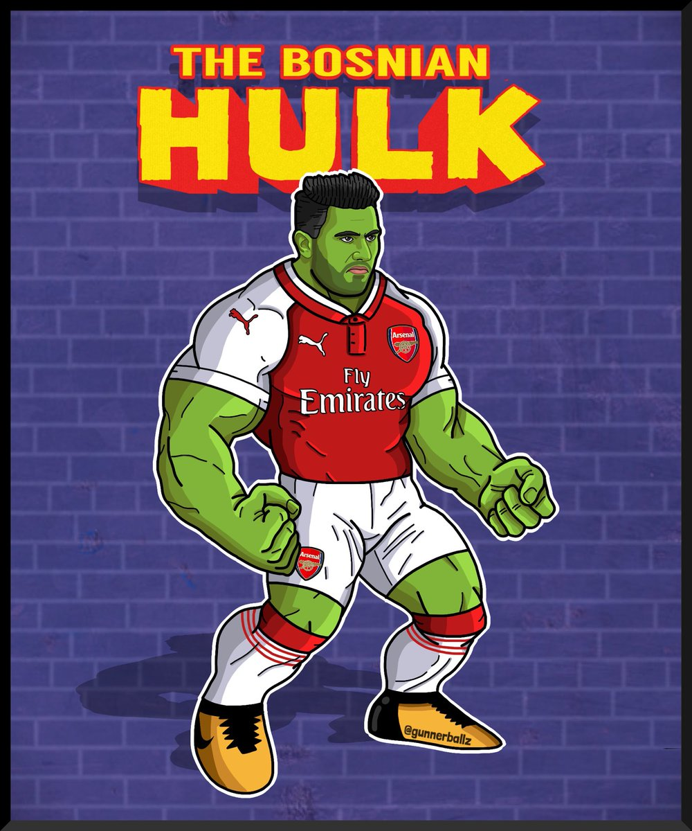 The Bosnian Hulk.  #kolasinac #seadkolasinac #arsenal #afc #puma #coyg #hulk  #tank<br>http://pic.twitter.com/SuGLMudVFr
