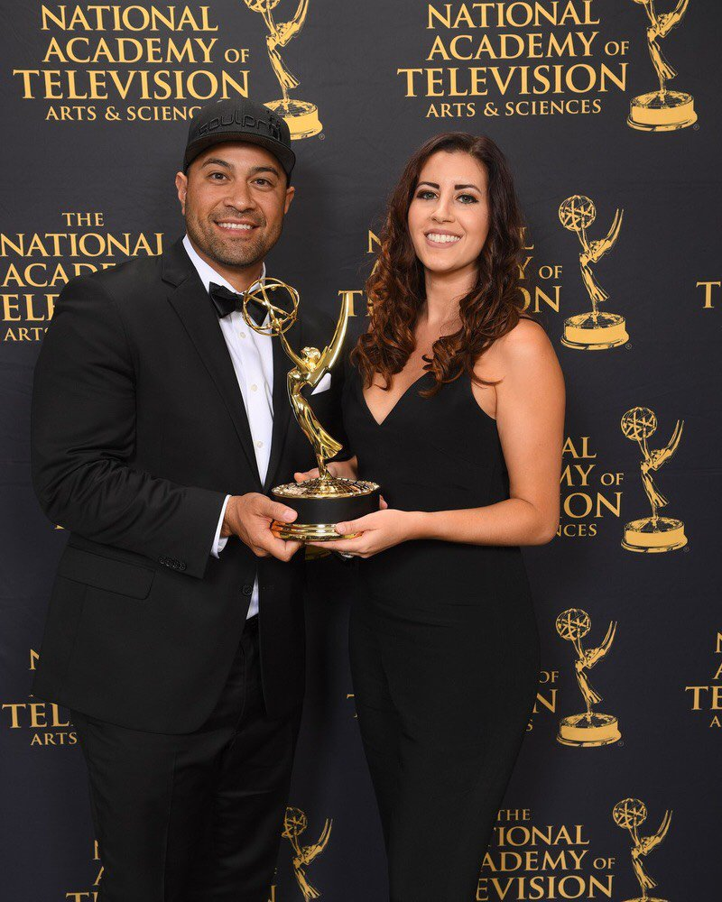 Ok, we gotta share it again. Congrats to @footballwetrust for taking the Outstanding Business &amp; Economic Documentary #Emmy! <br>http://pic.twitter.com/JpUkNXLX3C