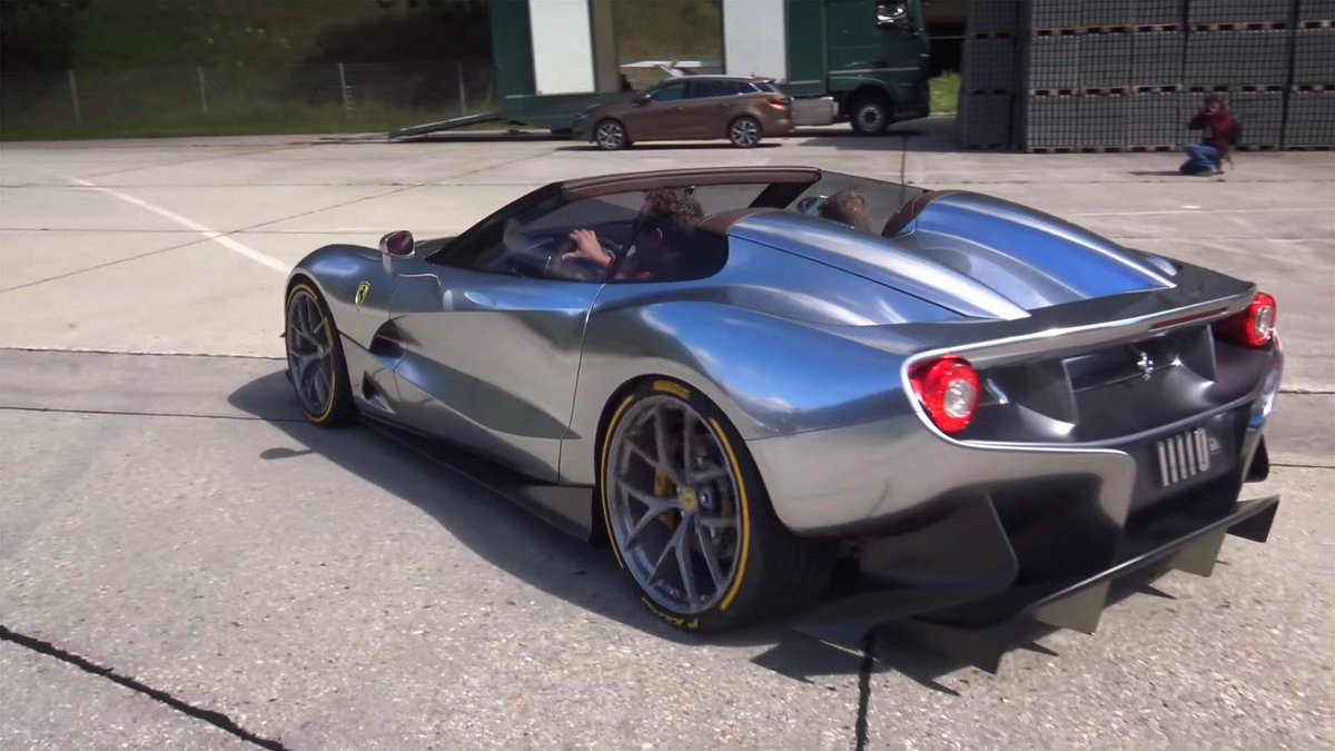 The moment one of the only two Ferrari F12 TRS comes out to play  http:// ow.ly/8e5B30fQvAA  &nbsp;   #Hypercar #Rare #FerrariFriday #Supercar<br>http://pic.twitter.com/APavazw1Fr