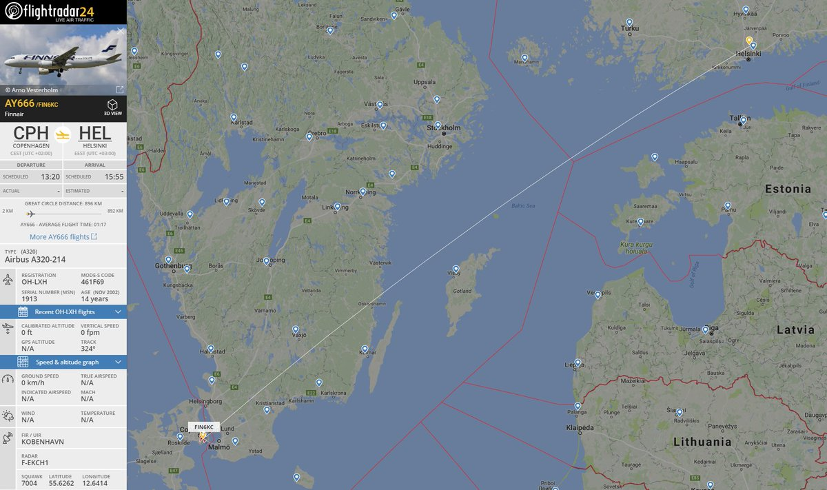 It's 13 o'clock on Friday the 13th and @Finnair flight 666 is getting ready to fly to HEL   https://t.co/ZAB2dO7aof
