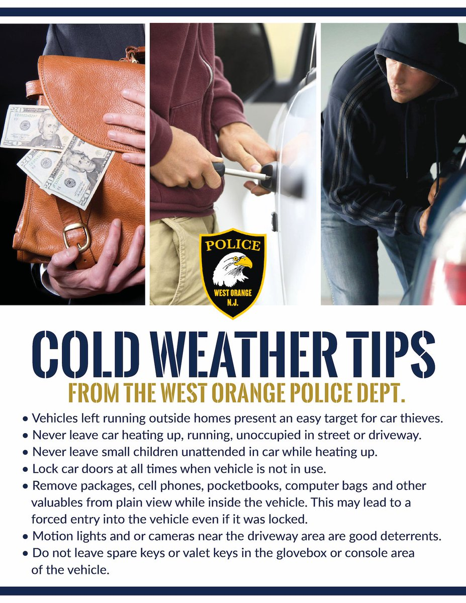 West Orange Nj On Twitter Cold Weather Tips From The Westorangenj Police Dept Don T Be Lazy Take An Extra Minute Now To Save Headache Later Safety Westorange Https T Co Lvpmlncowk Detailed information on every zip code in west orange. twitter