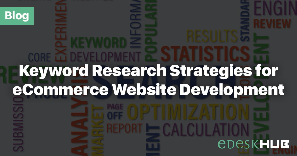 How #Keyword research helps excelling your #eCommerce competitors? Read,  https:// goo.gl/oeS8gF  &nbsp;   #SEO #Marketing #eComDev #eDeskHUB<br>http://pic.twitter.com/O3YJXaQe4h