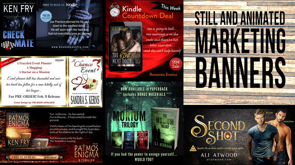 #RT Advertise your #books with HIGH QUALITY BANNERS Still and Animated. Free 3D images.  http://www. thebookkhaleesi.com/2016/08/still- and-animated-marketing-banners.html &nbsp; …  #marketing #books #GIFs <br>http://pic.twitter.com/i32ZKFI63l