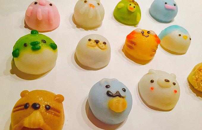 可愛すぎて食べられない!  名古屋老舗である浪越軒の「てづくりすいぞくかん」は、どれも一口サイズで食べやすく、味はこしあんとチョコレートの2種類の手作りまんじゅう ⇒