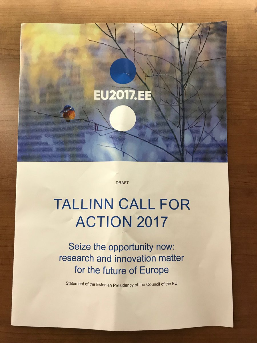 The #tallinncall4action is a powerful case for enhanced European investment and collaboration in research &amp; innovation #Research4FutureEU<br>http://pic.twitter.com/nMuKuwxU1j