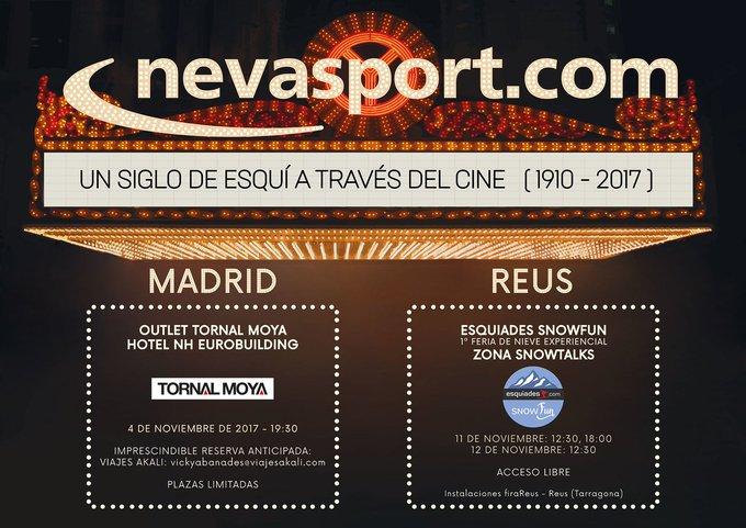 Preparad las palomitas, os proponemos un viaje por el esquí a través del cine en #Madrid y #Reus.  Info en: https://t.co/4NifL7RQdr