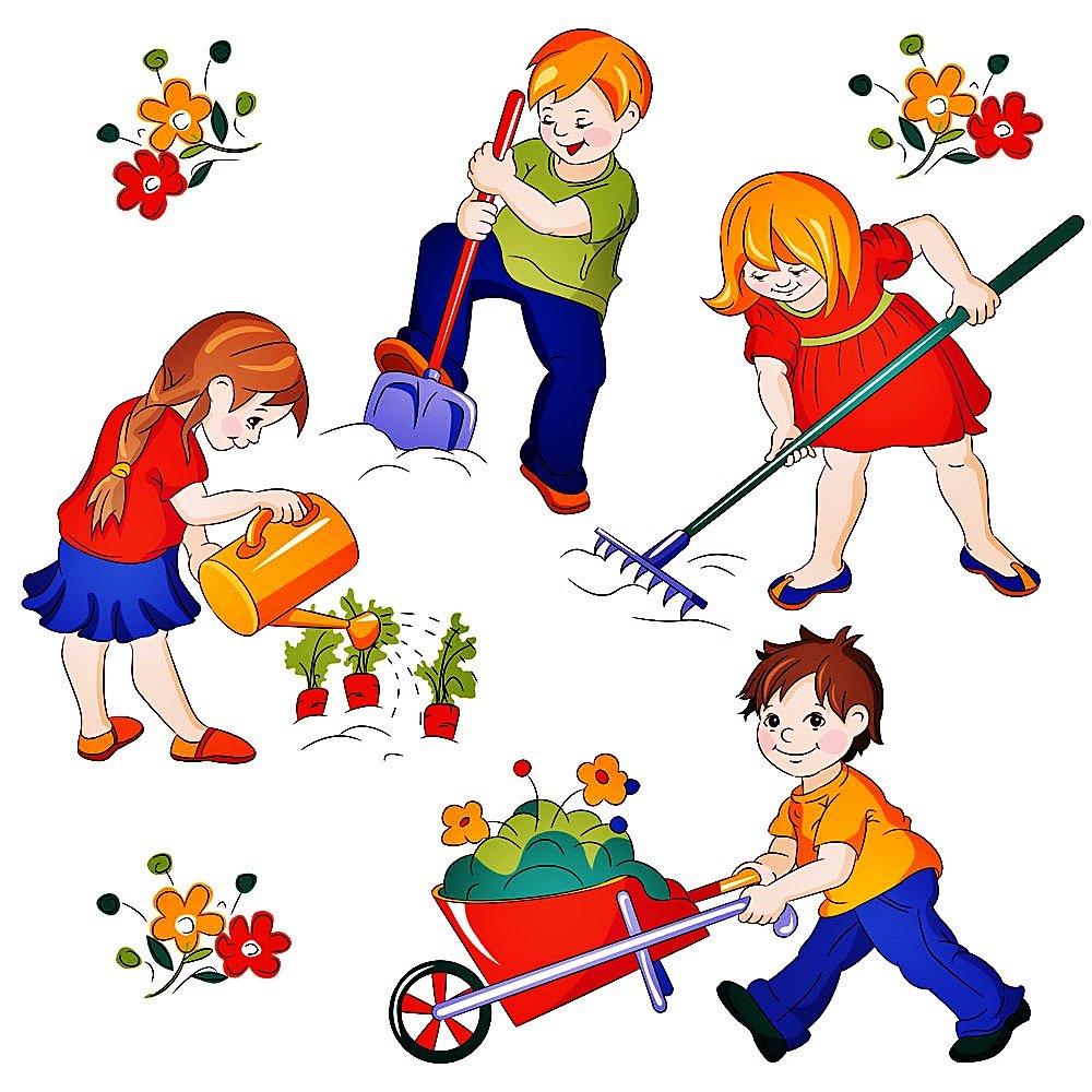 Картинки субботник в детском саду, аниме для детей