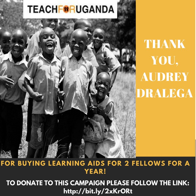 Today we're grateful to @ADralega as our first #Ugandan donor for learning aids for @TEACH4UG fellows. To donate —&gt;  https://www. omprakash.org/global/teachfo ruganda/crowdfund/sponsor--a-teach-for-uganda-teacher---tfu-fellow- &nbsp; … <br>http://pic.twitter.com/IOiPVtwDH0