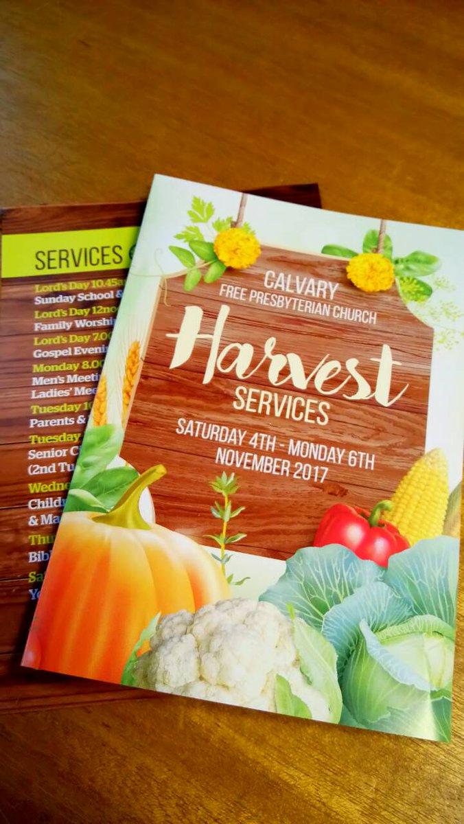 Harvest Service leaflets designed &amp; printed on site here at Gortreagh for Calvary Free Presbyterian Church. #design #print #deliver #harvest<br>http://pic.twitter.com/TKTfWWQDpI