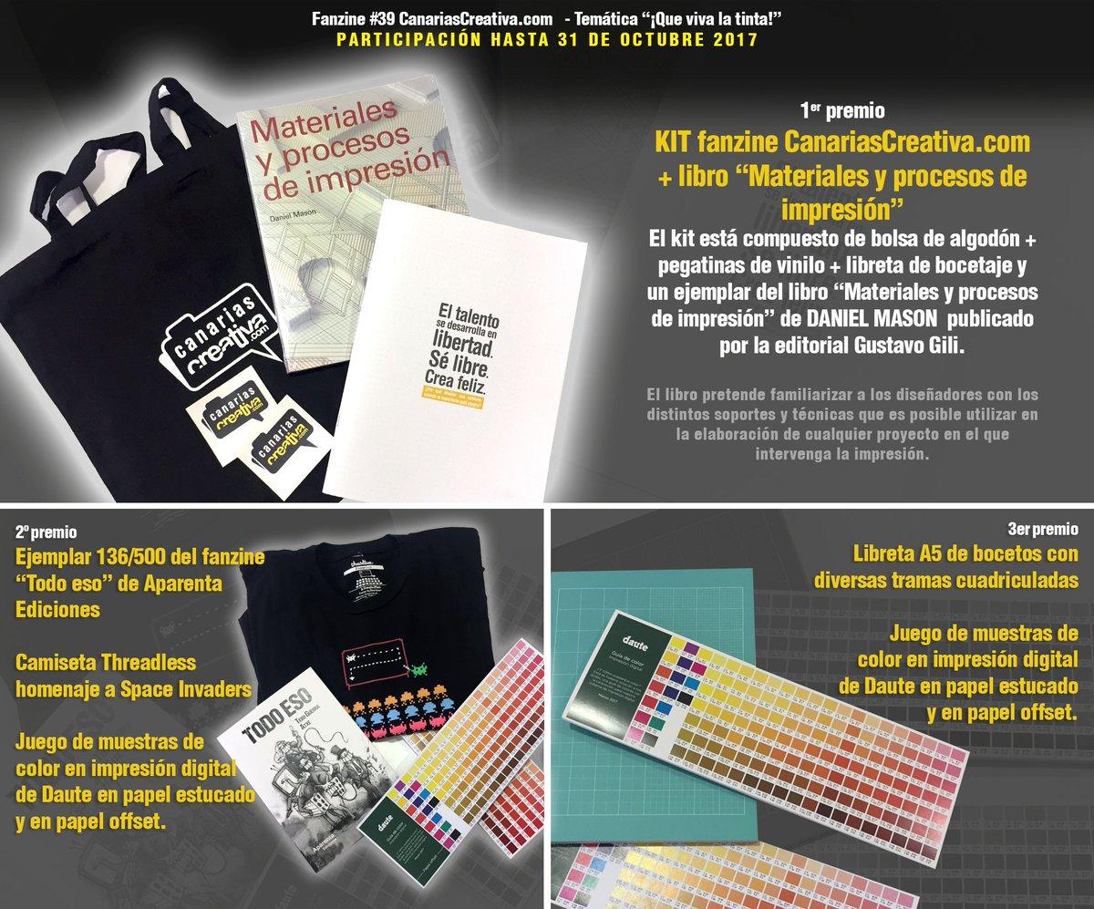 Canariascreativa On Twitter Has Visto Ya Los Premios A Sortear