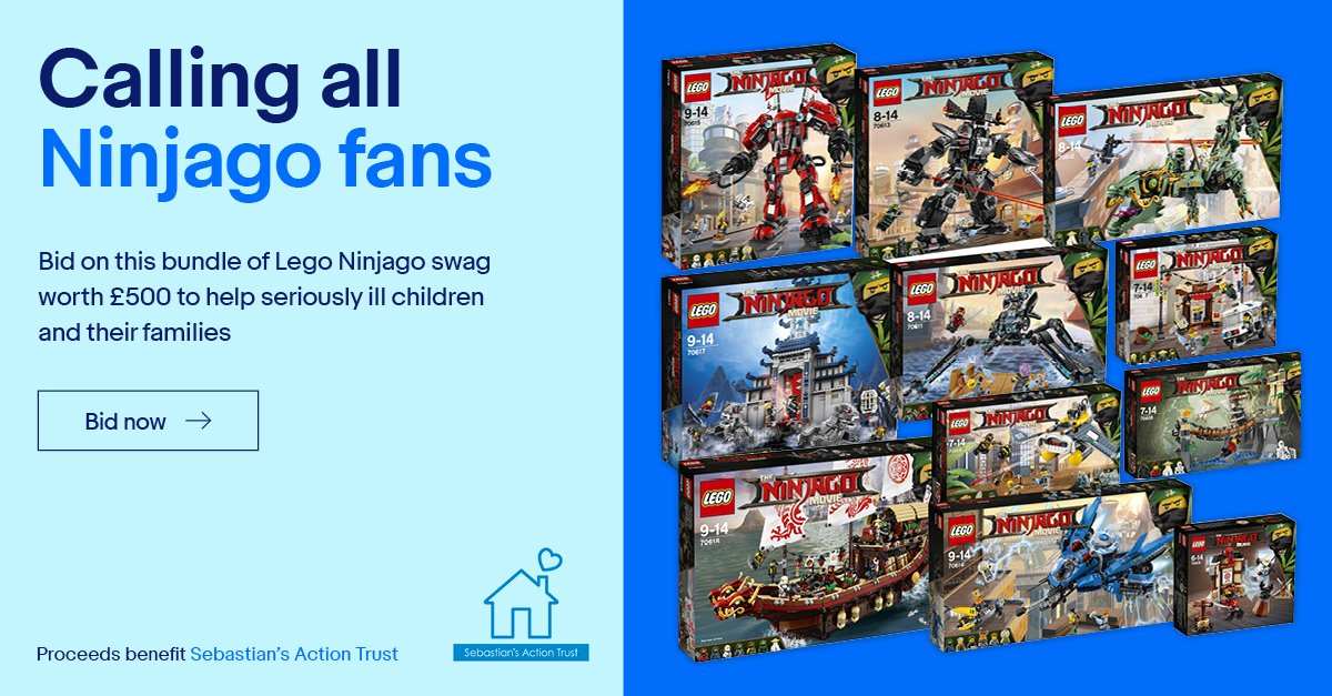 Ebay Co Uk On Twitter Calling All Thelegomoviesuk Fans Bid To Win 11 Ninjago Lego Sets All Proceeds To Sebsactiontrust Get Bidding Https T Co Helta4salh Https T Co Mvyfpvpmr6