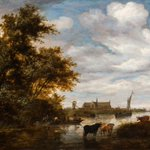 Alkmaar in 1664! Back from New York and in the collection of ! Salomon van Ruysdael (1602-1670) https://t.co/pF3tEMQqJS