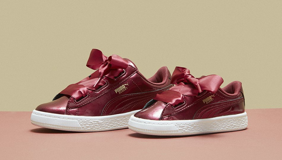 2c20d87a140 another one in the basket new kids puma basket hearts are finally here  treat them
