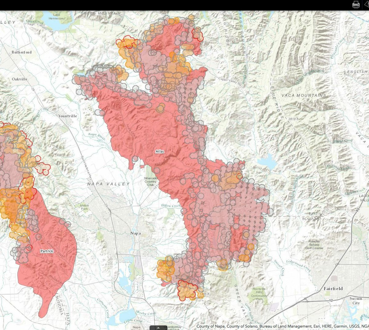 Eric S Neitzel On Twitter Winecountryfires Maps Good Numbers