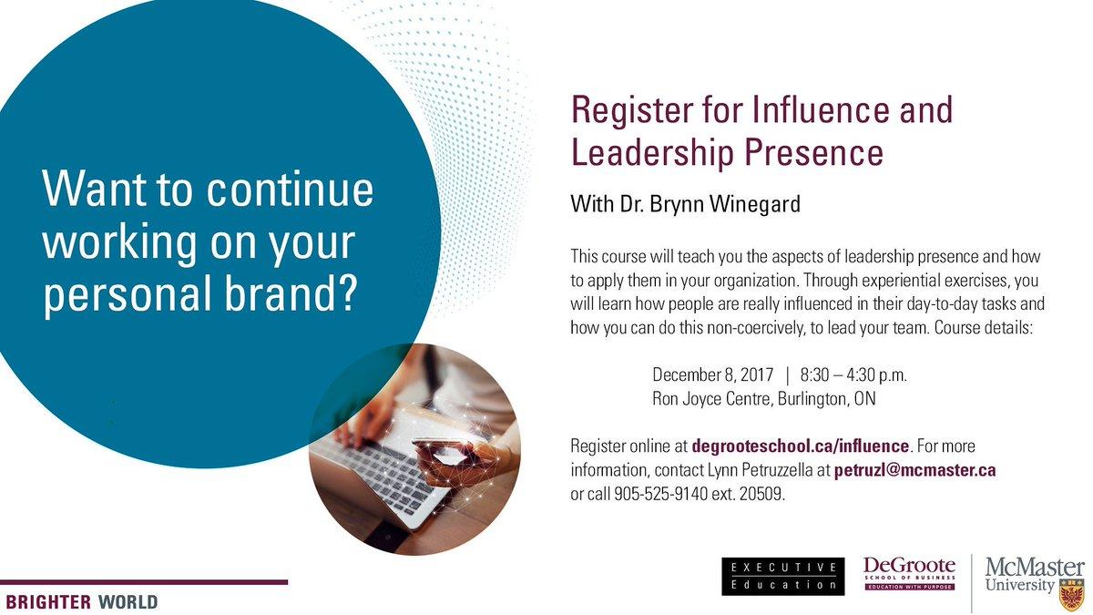 Join my *New* open enrolment course:  http://www. tiny.cc/LeadershipInfl uence &nbsp; …  #leadership  #influence #fun #careerdevelopment  @DeGrooteExecEd  @DeGrooteBiz<br>http://pic.twitter.com/8JOxcfnvtU
