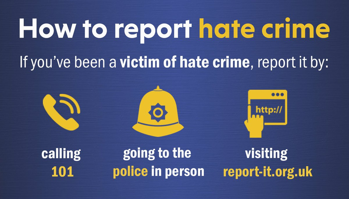 Find out more about #hatecrime and how to report it: https://t.co/K8FKhnE6PK @NationalHCAW #NHCAW #NoPlaceForHate
