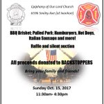 Stop by the 16th Annual @BackStoppers Event at Epiphany of Our Lord Church THIS Sunday for great food & fun. Your support is appreciated!