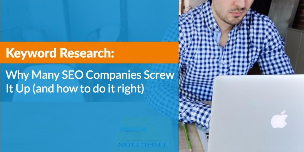 #Keyword Research: Why Many #SEO Companies Screw it Up (and how to do it right) via @justincherring  http:// bit.ly/2fRw7Af  &nbsp;  <br>http://pic.twitter.com/fz056qDjXI