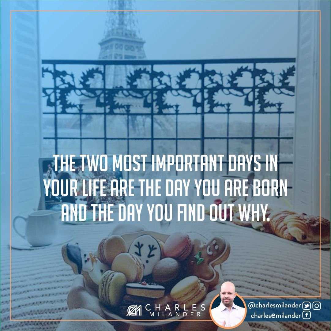The two most important days in your life are the day you are born and the day you find out why. #bible #Jesus #Jesuschrist #working #founder<br>http://pic.twitter.com/mK5vBnaqzo