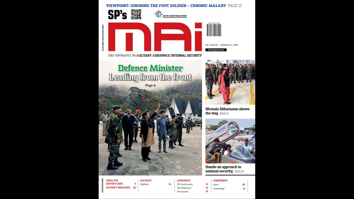 New @DefenceMinIndia @nsitharaman is Leading From Front.. in latest @SPs_MAI #IndianArmedForces #Military #Aerospace #Internal #security  http://www. spsmai.com/e-magazine/?Id =171013112612-821ce4fd051d7f6e045fb34cb7d853b0&amp;Name=sp_s_mai_20-2017&amp;Info=SP%27s%20MAI%20Issue%20No.%2020%20|%20October%2016-31,%202017&amp;t=1368878995306&amp;r=39&amp;mob=10095118&amp;year=2017 &nbsp; … <br>http://pic.twitter.com/cSzCa9yXA9