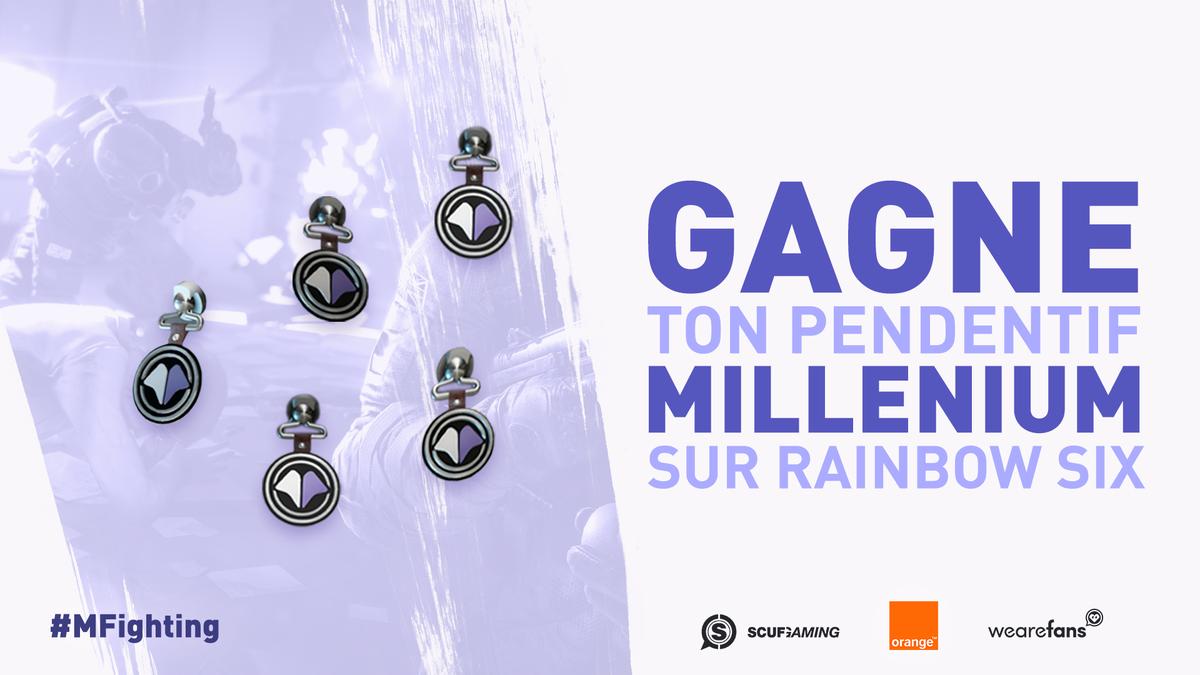 Merci pour votre soutien en #R6PL  On vous fait gagner 5 pendentifs #R6S Millenium : follow & commente avec #MFighting pour participer !pic.twitter.com/8qNTgz3Lh5