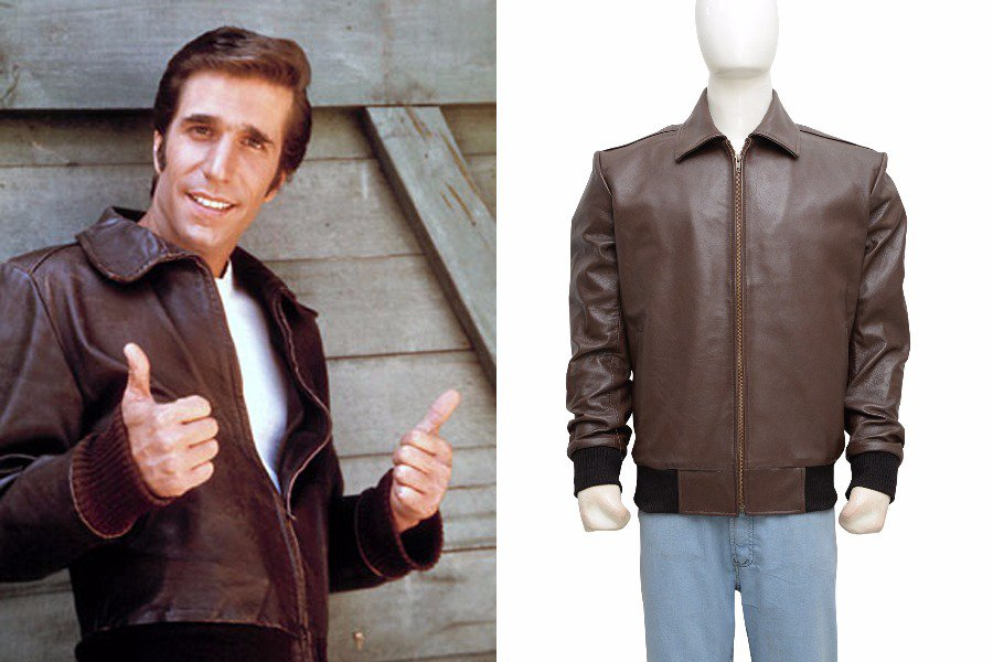 This Happy Days Mens Stylish Fonzie Top Leather Jacket now to try it today Available.  https:// goo.gl/VR8sDY  &nbsp;   #Cloth #Outfit #LeatherJacket<br>http://pic.twitter.com/ylDnBuJ0Pb