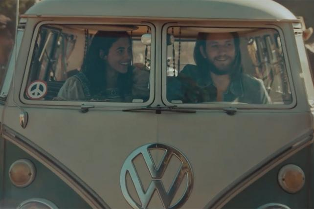 VW's hippie ad includes the classic microbus and Beetle but no new cars https://t.co/RAqFouIcAq https://t.co/xv3laUGjv1