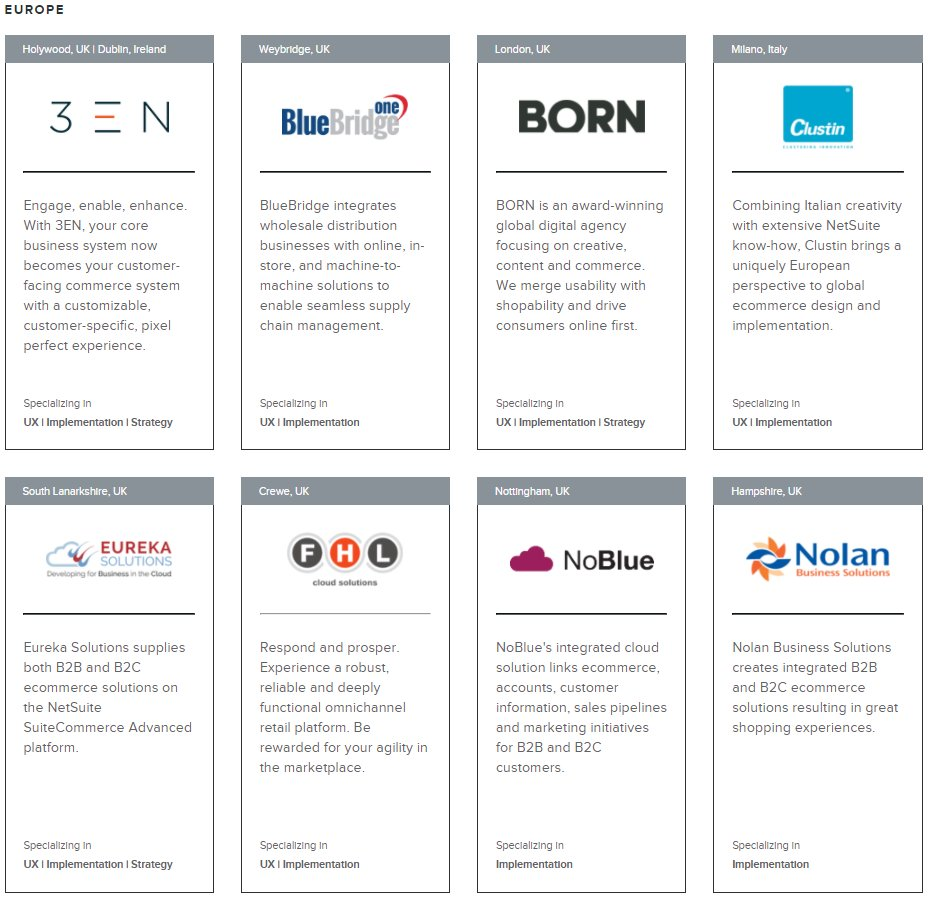 Now listed as one of NetSuite&#39;s premier #Commerce Partners for Europe. @NS_Ecommerce @NetSuiteEMEA #NetSuite  http://www. netsuite.com/portal/product s/ecommerce/partners/agency.shtml &nbsp; … <br>http://pic.twitter.com/O6N8JHe4cK