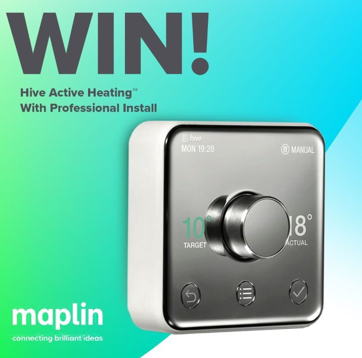 #FridayFreebie  RT &amp; Follow @maplintweet to Win a @hivehome Active Heating™ Thermostat– with professional install  #Win #SmartHome <br>http://pic.twitter.com/KG2lYIFeTw