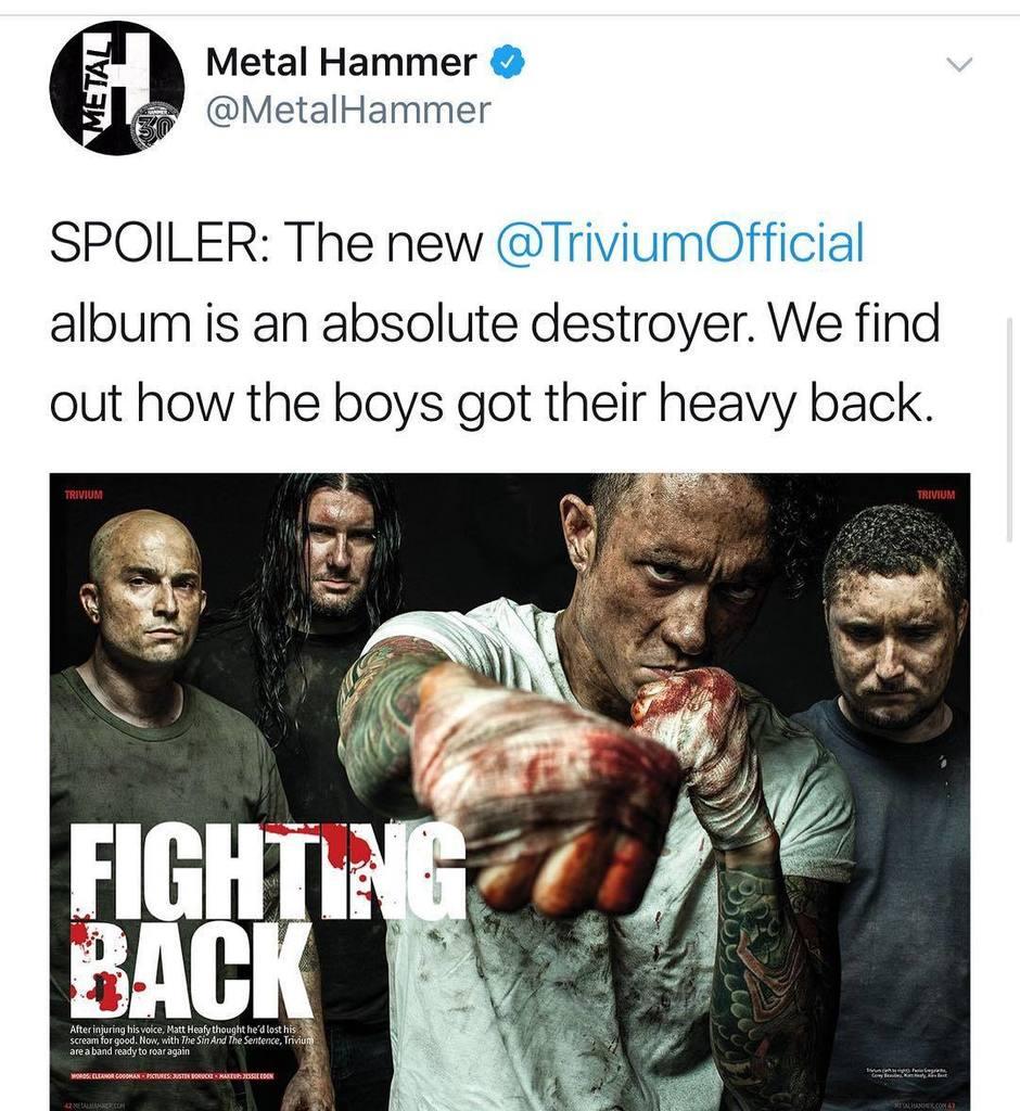 Matthew Kiichi Heafy On Twitter Metalhammer And  # Banc Bois Et Metal